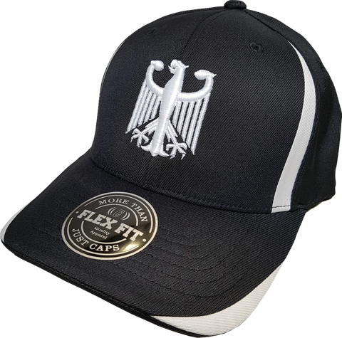 Germany Cap Flex Fit Chivalry Black White