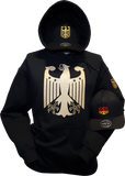 Germany Hoodie Chivalry Black Metallic Gold