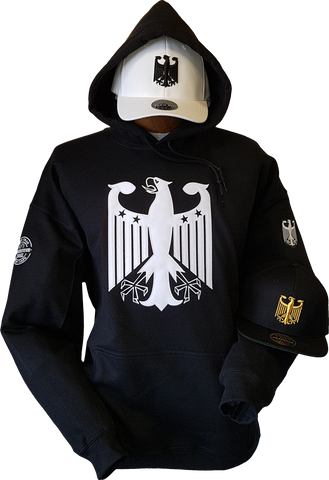 Germany Hoodie Chivalry Black White