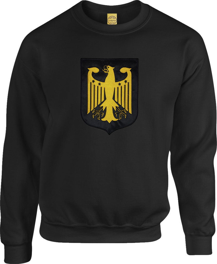6e13ca2b0ae Germany Shield Crew Neck Sweater Black – More Than Just Caps Clubhouse