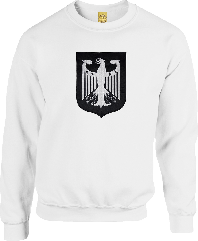 Germany Shield Crew Neck Sweater White