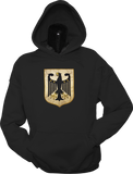 Germany Shield Hoodie Black Metallic Gold