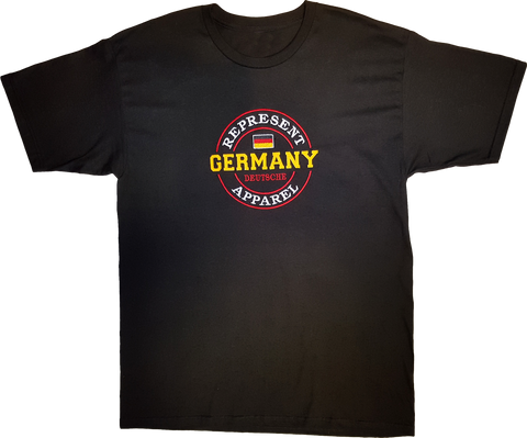 Germany Represent T-Shirt Embroidered Logo