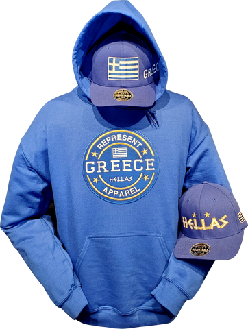 Greece Hoodie Benchmark Royal