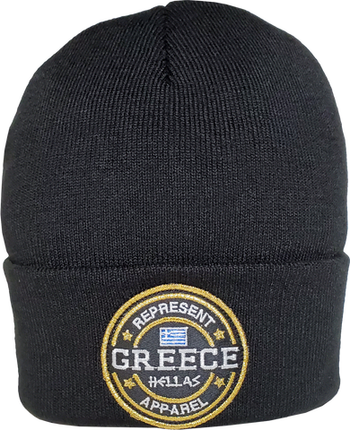 Greece Toque Benchmark Rib Knit Black