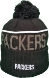 Green Bay Packers Fleece Lined Black Pom Toque