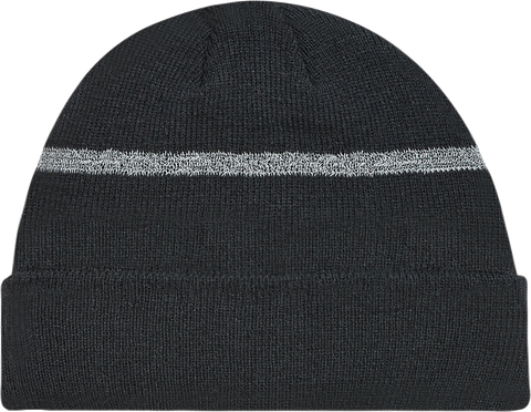 Rib Knit Cuffed Hi-Vis Toque Black