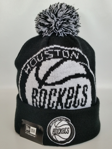 Houston Rockets Black and White XL Logo Core Toque