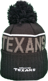 Houston Texans Fleece Lined Black Pom Toque