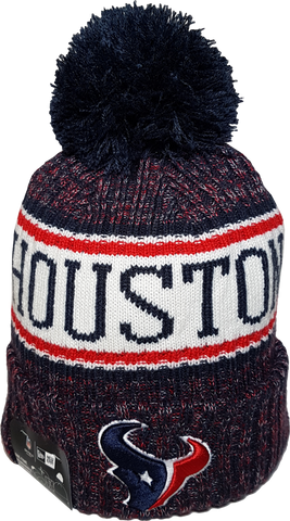 Houston Texans NFL 18 Sideline Pom Toque