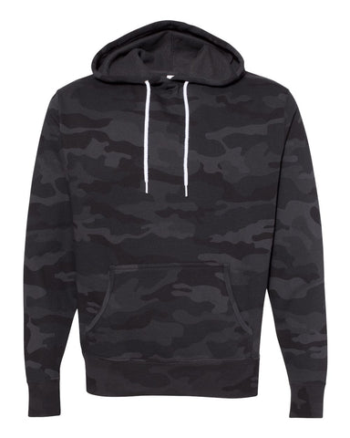 Independent Trading Co. - Unisex Lightweight Hooded Sweatshirt Black Camo