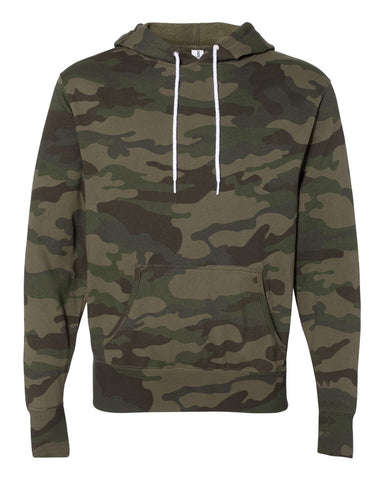 Independent Trading Co. - Unisex Lightweight Hooded Sweatshirt Forest Camo