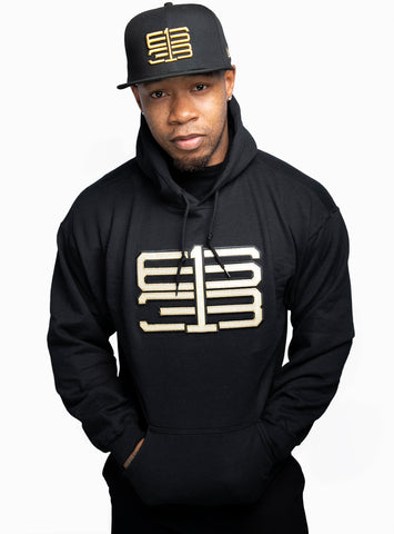 Six One 3 Interlok Premium Hoodie Black Metallic Gold
