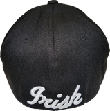 Irish Cap Clover Flex Fit Black and White