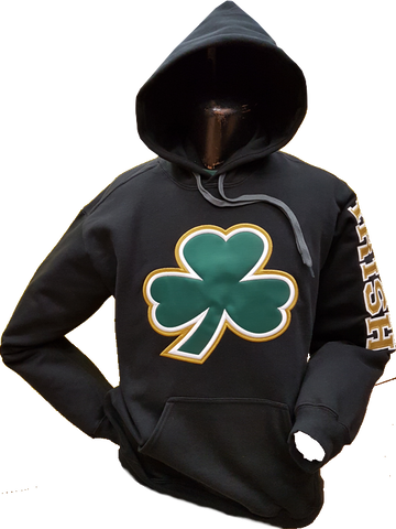 Irish Big Clover Cotton Hood Black