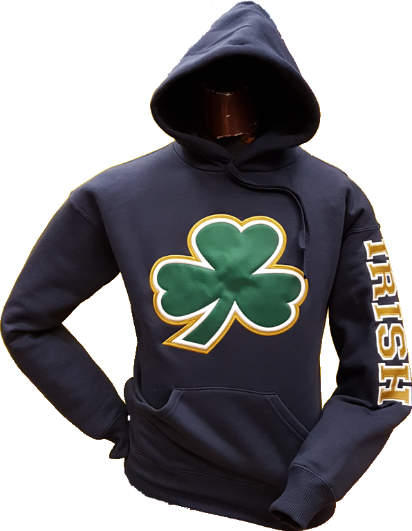 Irish Big Clover Cotton Hood Navy