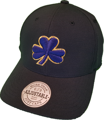 Irish Cap Big Clover Adjustable Flex Navy