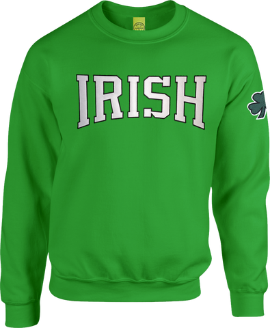 Irish Block Crew Neck Sweater Kelly Green