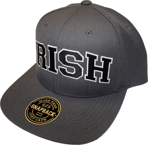 Irish Cap Big Block Snapback Grey