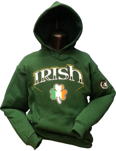 Irish Hoodie Bolt 2 Green 15oz Cotton