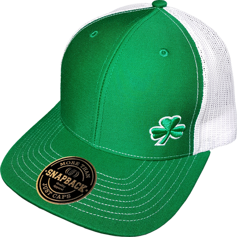 Irish Clover FLS Cap Trucker Snapback FLS Green White