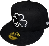 Irish Clover Black and White Custom Fitted