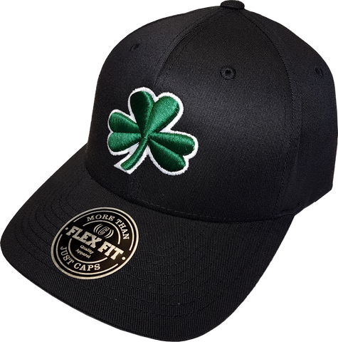 Irish Cap Clover Flex Fit Black