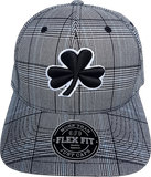 Irish Cap Big Clover Flex Fit Glen Check Grey