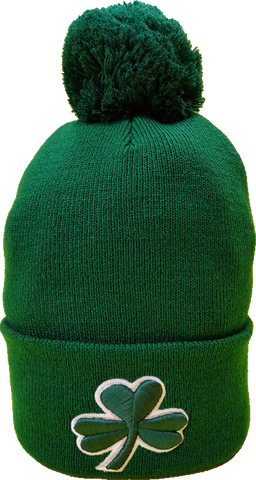Irish Clover Pom Toque Green