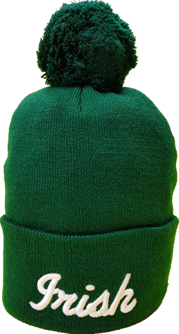 Irish Clover Pom Toque Green Alt