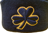 Irish Clover Pom Toque Navy