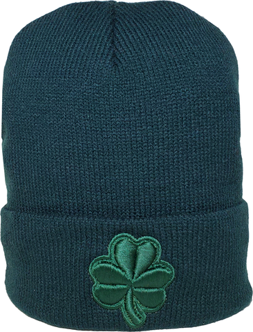 Irish Clover Tonal Basic Cuffed Beanie Toque Forest