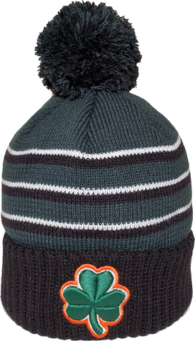 Irish Clover Pom Toque Forest Green