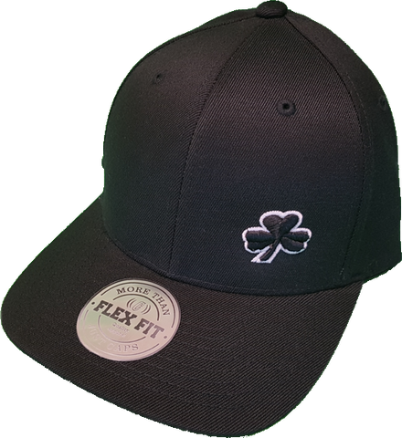 Irish Cap Clover FLS Black and White Flex Fit
