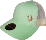 Irish Low Profile Trucker Cap Patina Green Birch