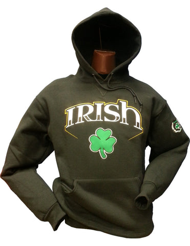 Irish Hoodie Bolt 1 Black 14oz Cotton