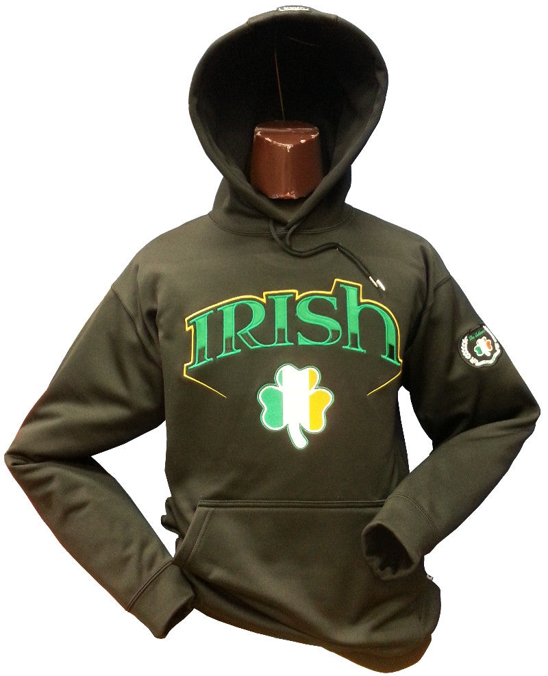 Irish Hoodie Bolt 2 Black 17oz Cotton