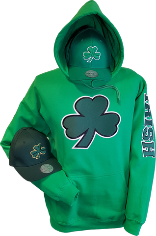 Irish Hoodie Big Logo Kelly Green