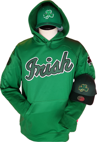 Irish Hoodie Script Kelly Green