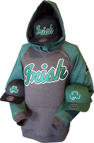 Irish Hoodie Premium Heathered Ring Spun Poly Cotton