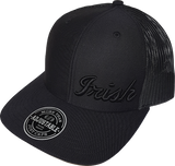 Irish Script Trucker Cap FLS Blackout