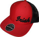 Irish Script Cap Trucker Snapback FLS Red and Black
