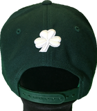 Irish Cap Big Script Snapback Forest Green and White