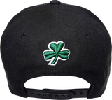Irish Cap Big Script Snapback Black and Green