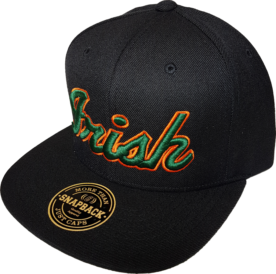 c3166125d0b51 Irish Black Snapback with Green and Orange – More Than Just Caps Clubhouse