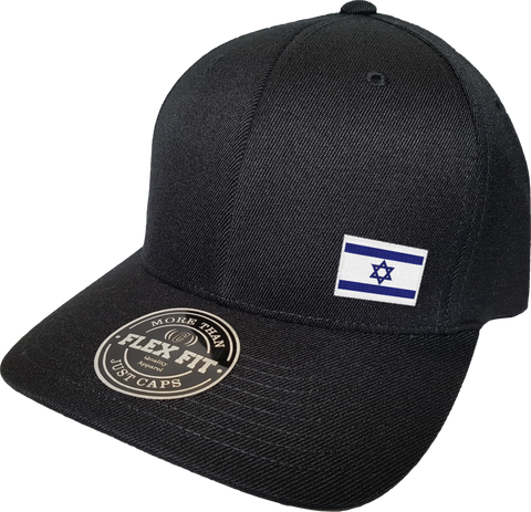 Israel Cap Flex Fit FLS Black