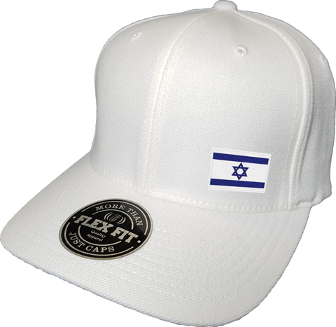 Israel Cap Flex Fit FLS White