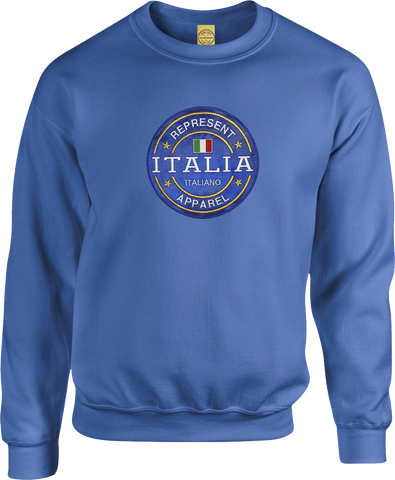Italy Benchmark Crew Neck Sweater Royal