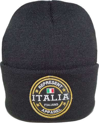 Italy Toque Benchmark Rib Knit Black