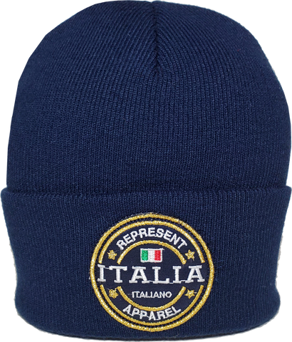 Italy Toque Benchmark Rib Knit Navy